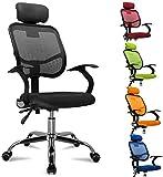 femor Bürostuhl, ergonomischer Schreibtischstuhl, Chefsessel mit Rollen, Bürodrehstuhl mit...