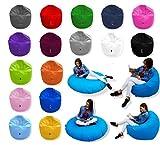 Patchhome 2 in 1 Funktion Sitzsack Sitzkissen Bean Bag - Blau - 125cm Durchmesser in 25 Farben und 3...