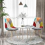 VADIM Stuhl Esszimmerstuhl Patchwork Wohnzimmerstühle Mehrfarbige Stühle mit Rückenlehne Leinen...