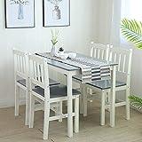 Essgruppe mit 1 Tisch 4 Stühle, Holz Tischgruppe Esstischset Sitzgruppe Esstischgruppe...