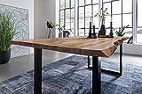SAM Esszimmertisch 180 x 90 cm Mephisto, Baumkantentisch naturfarben, Akazienholz massiv, U-Gestell...