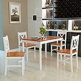 Panana Esstisch Stuhl Set Essgruppe Tischgurppe, Esstischgruppe Sitzgruppe Esszimmergarnitur, 108 x...
