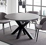 storado.de Esstisch schwarz Keramik dunkel 110x78 cm Big System Rund Stern 110 Auszug Tisch