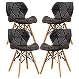 MIFI 4er Set Esszimmerstühle,Moderne Gepolsterte Esszimmer,Esszimmerstühle aus Holz, Holzstühle...