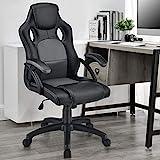 ArtLife Racing Schreibtischstuhl Montreal grau | Kunstleder | höhenverstellbar | ergonomisch | 120...
