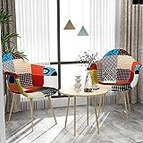 VADIM Esszimmerstühle mit Armlehne 2er Set Patchwork, Küchenstuhl Mit Buchenholzimitat...