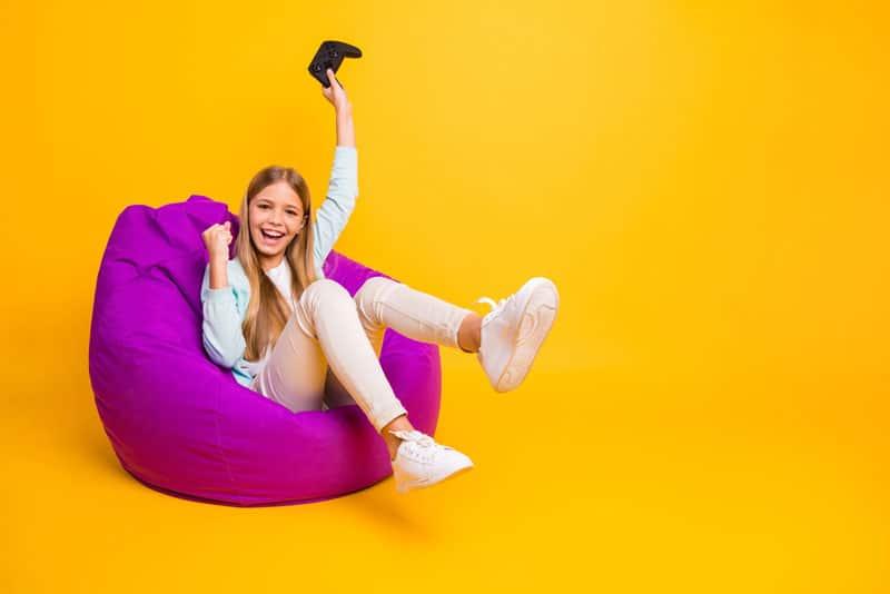 Sitzsack-lila